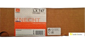 KNECHT AIR FILTER LX 747. MERCEDES SPARE PARTS